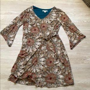 kalidoscope print dress